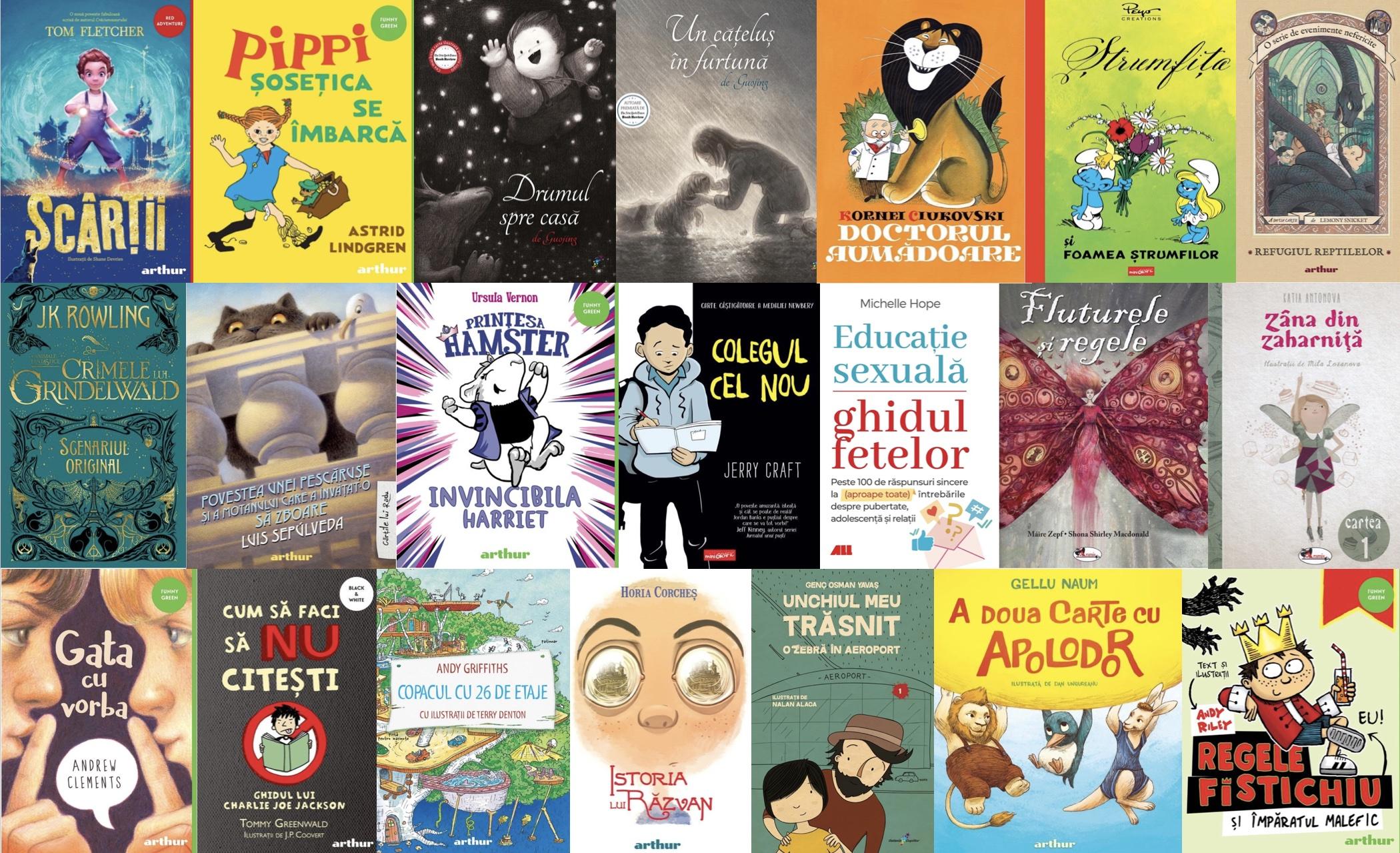 Noutățile editoriale pentru copii în luna iulie
