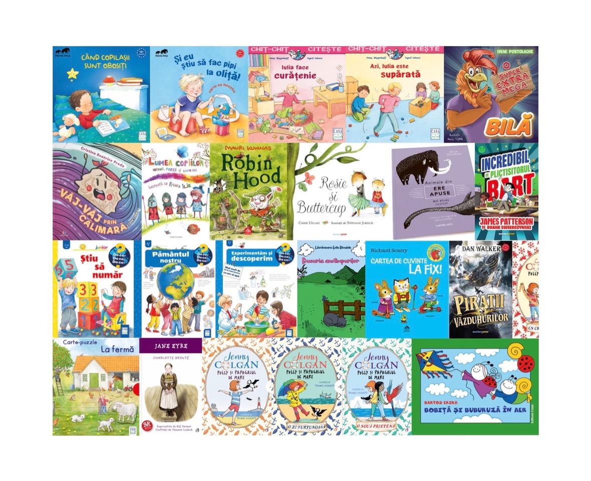 Noutăți editoriale pentru copii în lunile iulie și august I